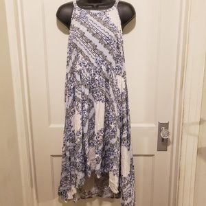 Torrid Blue Floral High Low Dress